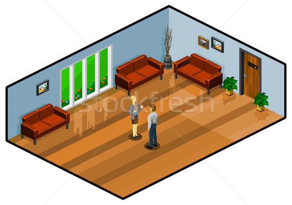 лобби комнату изометрический собственный Мир Сток-фото © araga