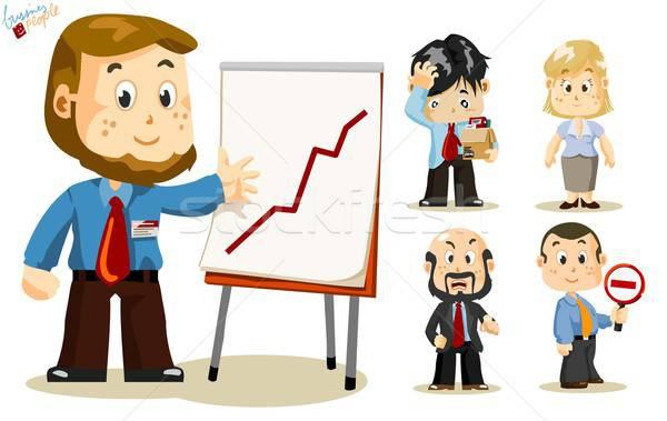 Сток-фото: презентация · деловые · люди · набор · люди · бизнеса · деятельность
