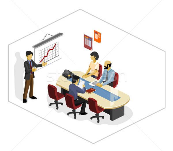 белый презентация изометрический собственный Мир бизнеса Сток-фото © araga