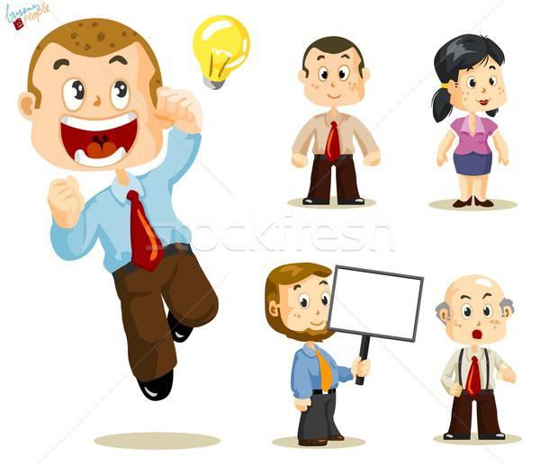 Сток-фото: деловые · люди · набор · люди · бизнеса · деятельность · служба