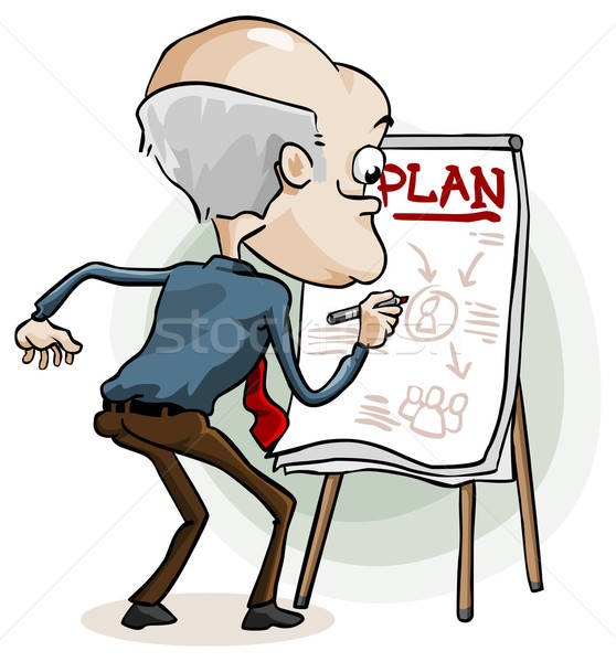 Business plan gedetailleerd cartoon gratis ander Stockfoto © araga