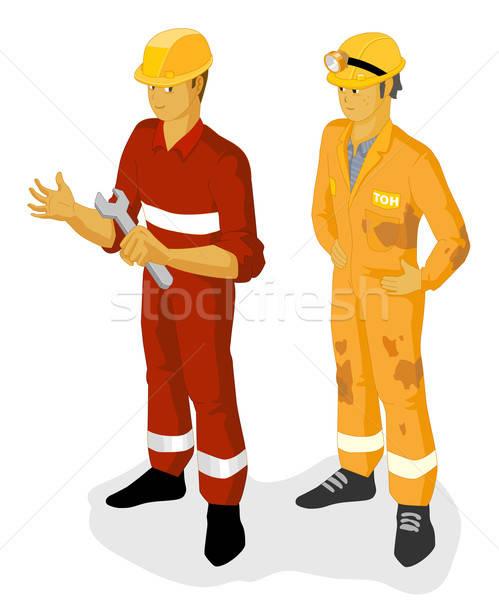 油 建設作業員 アイソメトリック 独自の 世界 建設 ストックフォト © araga