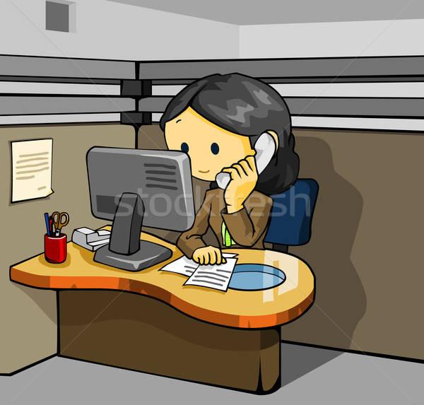 Telefon destek iş ofis işadamı hizmet Stok fotoğraf © araga