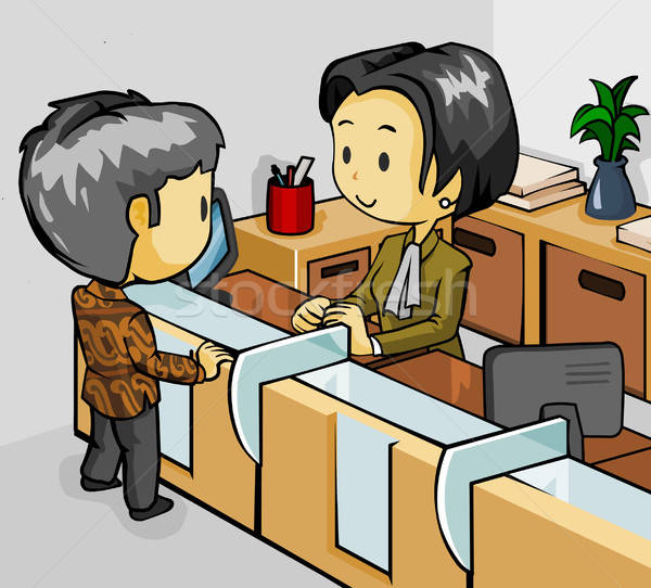 Teller on Customer Stock photo © araga