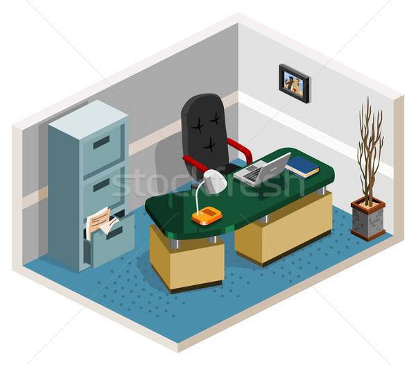 пусто Boss комнату изометрический собственный Мир Сток-фото © araga