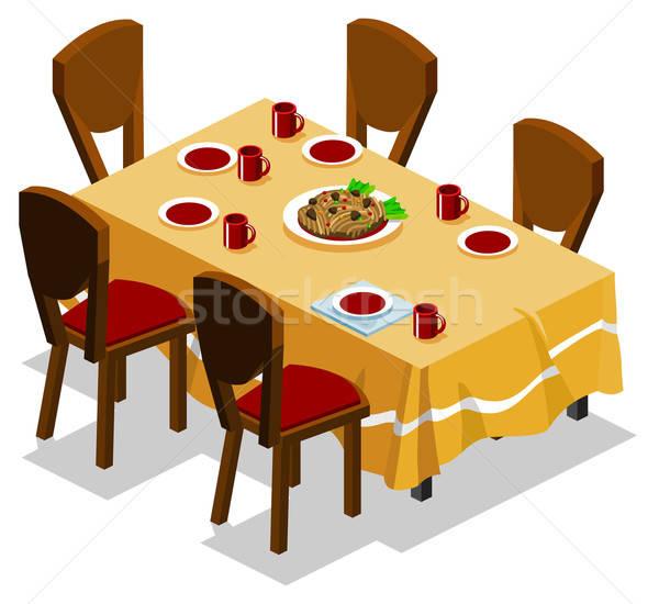 Family Gathering on Dinner Stock photo © araga