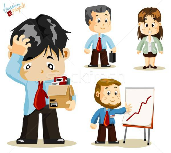 Fired. Business People Stock photo © araga