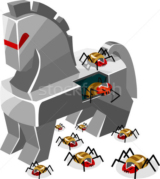 Threat of Trojan Virus Stock photo © araga