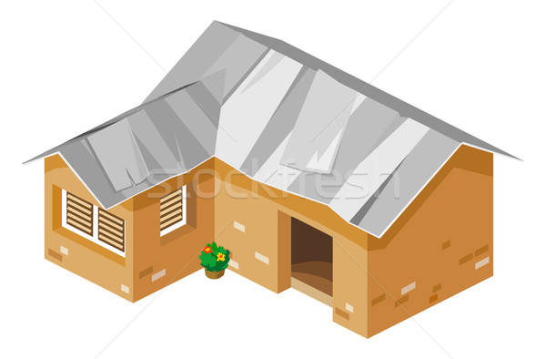 Very Poor African House Stock photo © araga