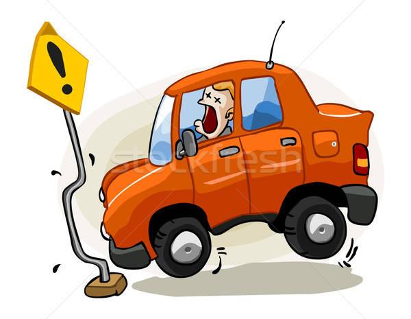 Ongeval verzekering gedetailleerd geïsoleerd witte auto Stockfoto © araga