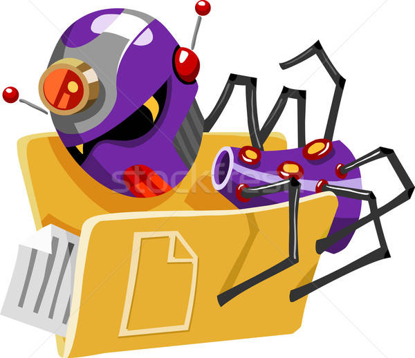 Tehdit virüs bilgisayar ayrıntılı ofis Internet Stok fotoğraf © araga