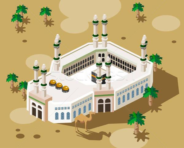 Haddzs Mecca izometrikus saját világ Stock fotó © araga