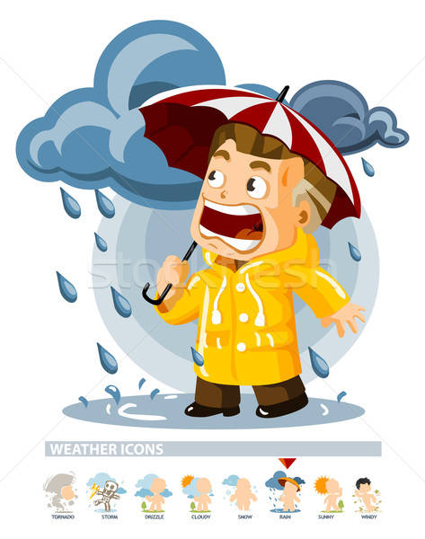Stock photo: Rain. Weather Icon