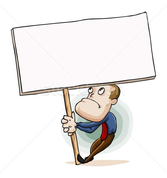 Man holding Message Sign Board Stock photo © araga