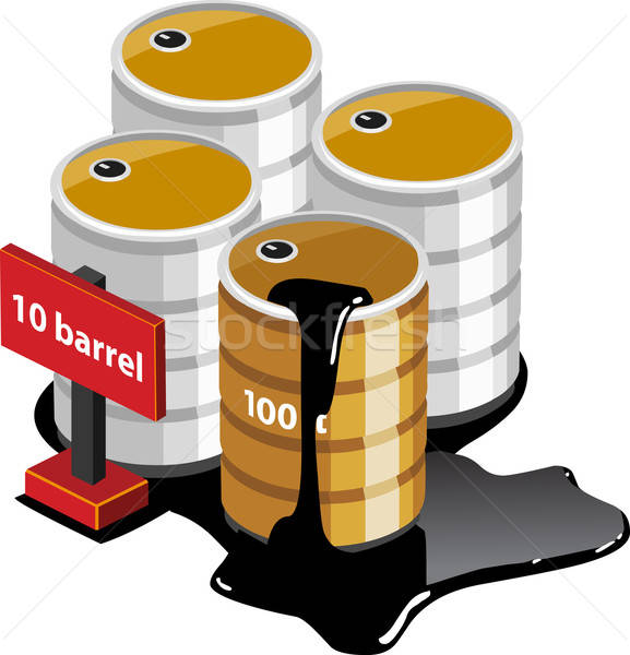 Olie tank isometrische eigen wereld werk Stockfoto © araga