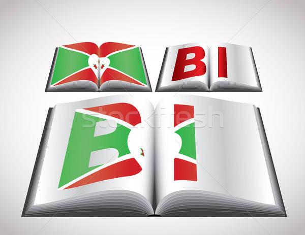 Bandeira Burundi vetor formato livro Foto stock © archymeder