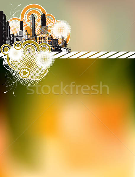 Urbanas silueta vector formato negocios Foto stock © archymeder
