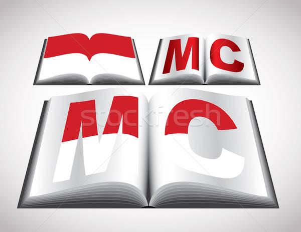 Bandeira Mônaco vetor formato livro Foto stock © archymeder