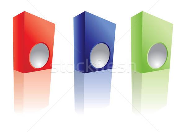 3D cuadro vector formato Foto stock © archymeder