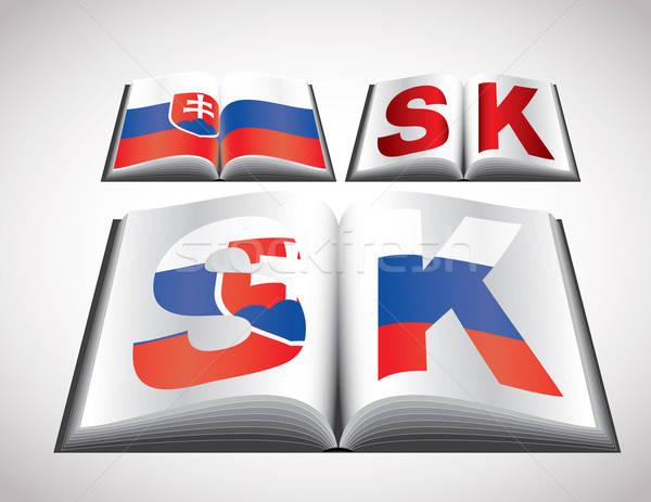 National Flag concept of Slovakia Stock photo © archymeder