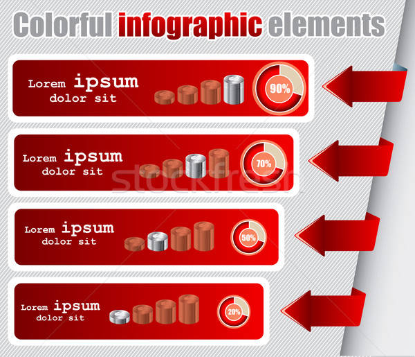 Infographic elements in vector format Stock photo © archymeder