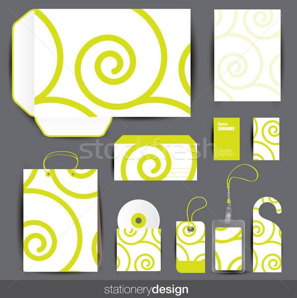 Stationery design set Stock photo © archymeder