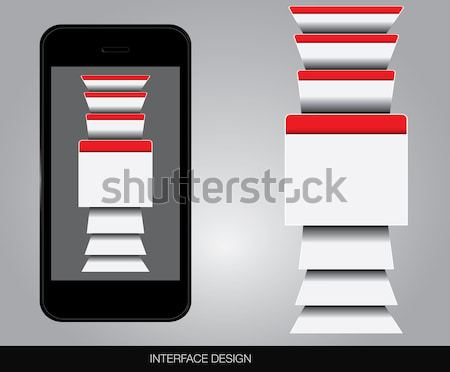 Utilisateur interface vecteur format affaires Photo stock © archymeder
