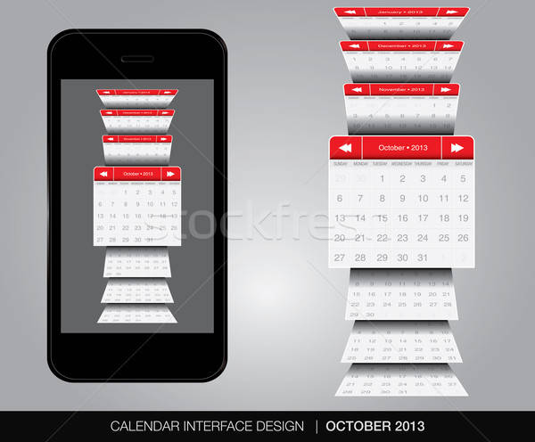 Calendar interfata vector format afaceri Imagine de stoc © archymeder