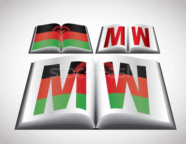 Vlag Malawi vector formaat boek Stockfoto © archymeder