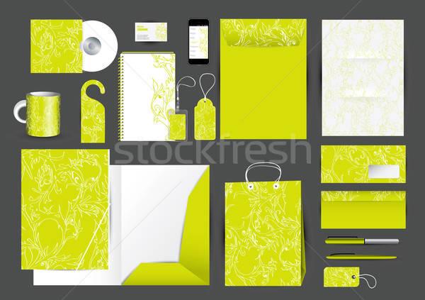 Great stationery design set Stock photo © archymeder
