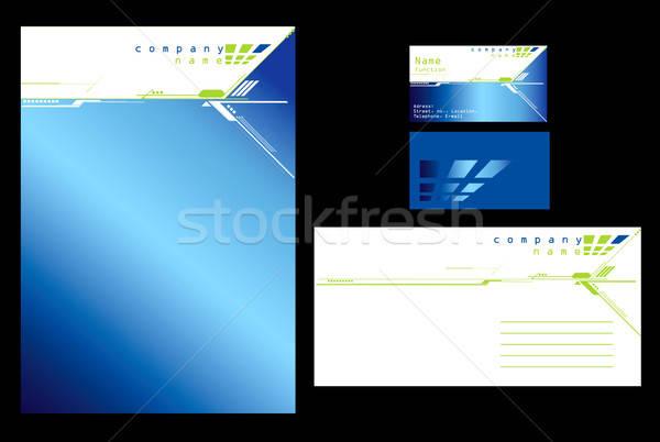 Blue stationary design Stock photo © archymeder