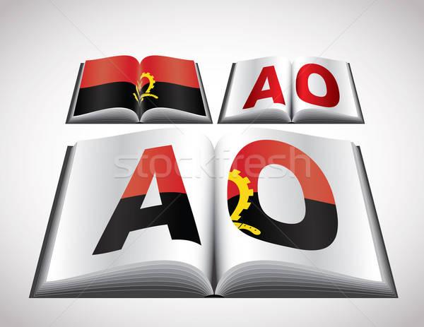 Bayrak Tiftik dokuma düzenlenebilir vektör format kitap Stok fotoğraf © archymeder