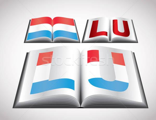 Banderą Luksemburg wektora format książki Zdjęcia stock © archymeder