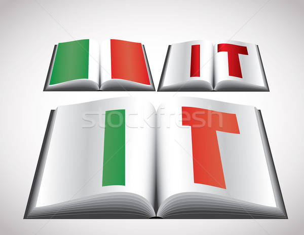 National Flag concept of Italy Stock photo © archymeder