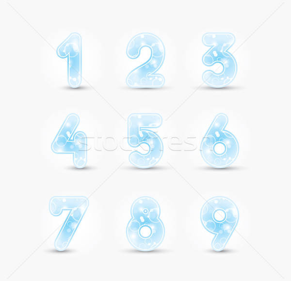 Colored numbers design Stock photo © archymeder