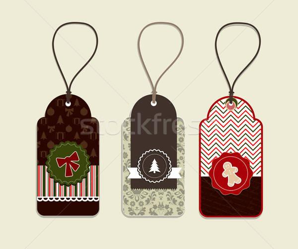 Christmas sticker concepts Stock photo © archymeder