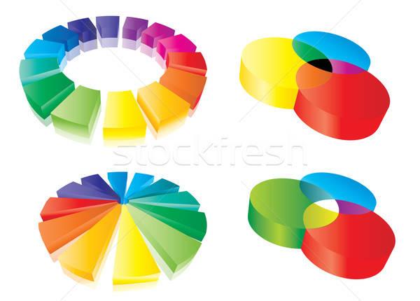 Color guide set Stock photo © archymeder