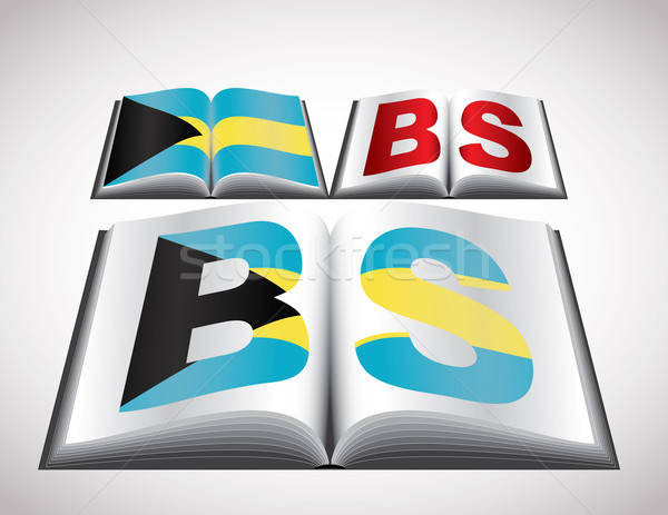 National Flag concept of Bahamas Stock photo © archymeder