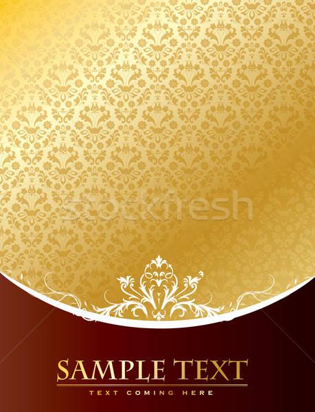 Vintage oro vector formato resumen Foto stock © archymeder