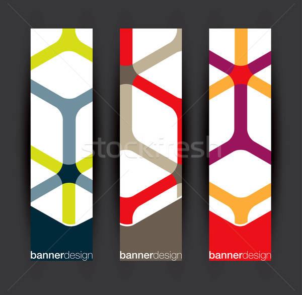 Vertical banner elements Stock photo © archymeder