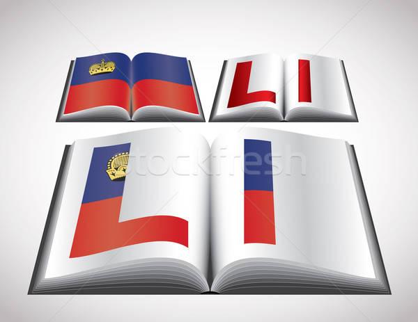 National Flag concept of Liechtenstein Stock photo © archymeder