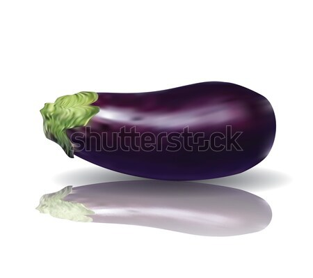 Purple Eggplant aubergine with reflection Stock photo © archymeder