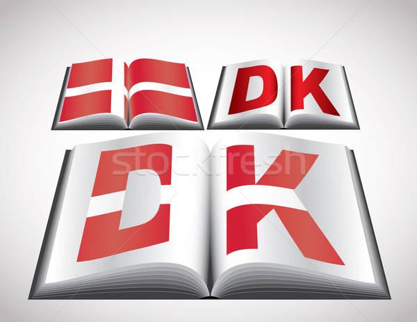 National Flag concept of Denmark Stock photo © archymeder