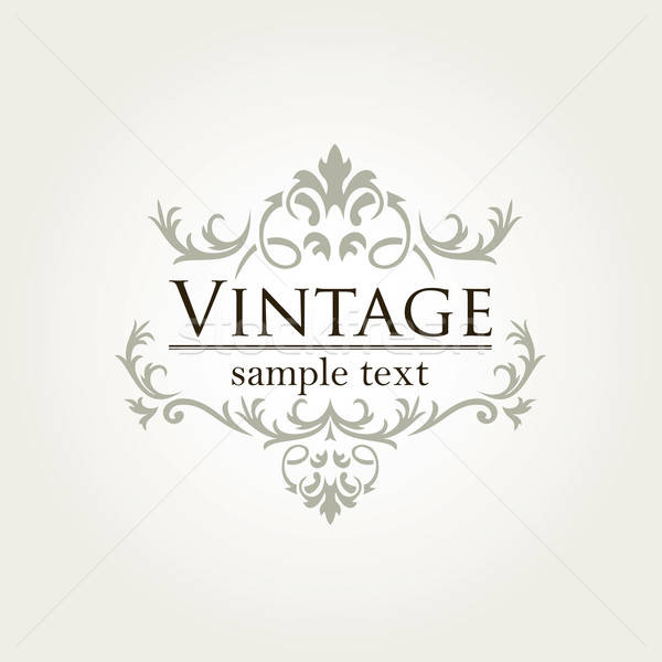 Royal vintage design vecteur format Photo stock © archymeder
