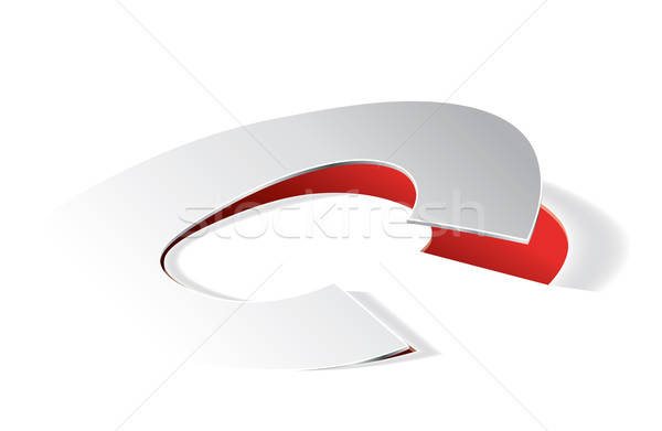 Paper folding with letter C in perspective view Stock photo © archymeder