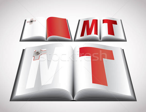 Bandera Malta vector formato libro Foto stock © archymeder