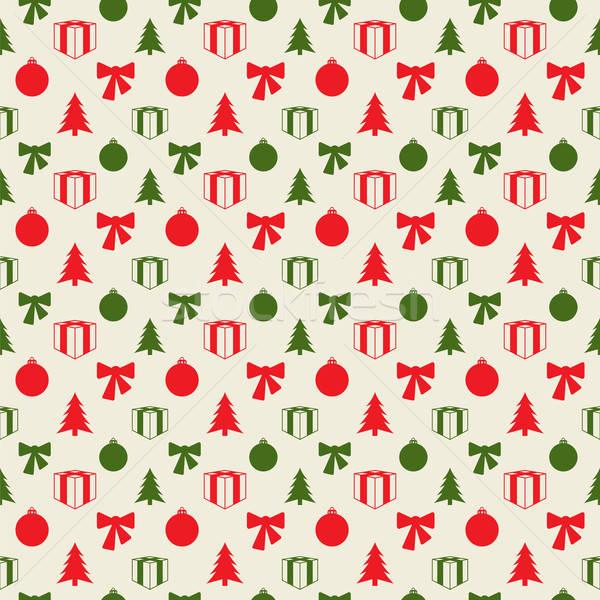 Retro Christmas pattern Stock photo © archymeder