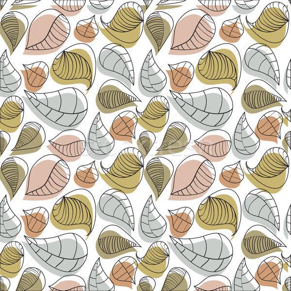 抽象的な 葉 パターン ベクトル フォーマット ストックフォト © archymeder