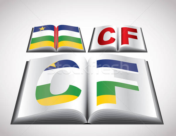 National Flag concept of Central African Republic Stock photo © archymeder