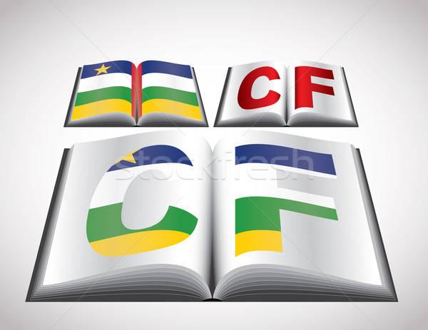Zászló központi afrikai köztársaság szerkeszthető vektor Stock fotó © archymeder